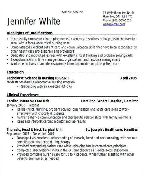 sample rn resume templates  ms word
