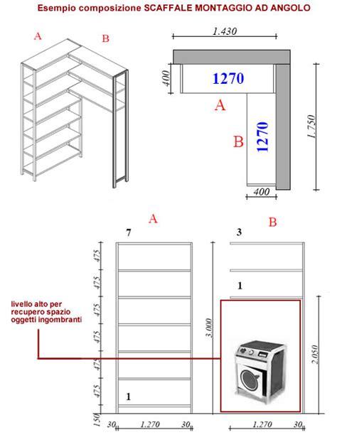 misure scaffali scaffale per ripostiglio ad angolo