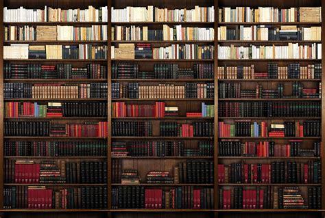 poster mural trompe l oeil biblioth 232 que avec de vieux livres