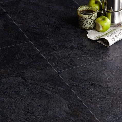 Colours Black Slate Effect Luxury Vinyl Click Flooring 1