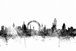 London Skyline Schwarz Weiß : london skyline black wall mural photo wallpaper photowall ~ Watch28wear.com Haus und Dekorationen