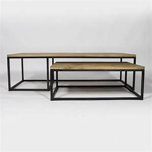 Table Salon Metal : table basse industrielle gigogne made in meubles ~ Teatrodelosmanantiales.com Idées de Décoration