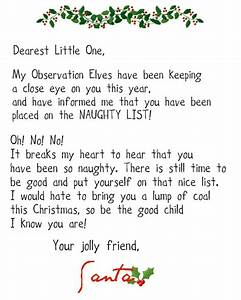 Crafty confessions printable naughty and nice letters for Nice list santa letter