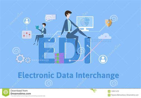 electronic data interchange stock illustrations