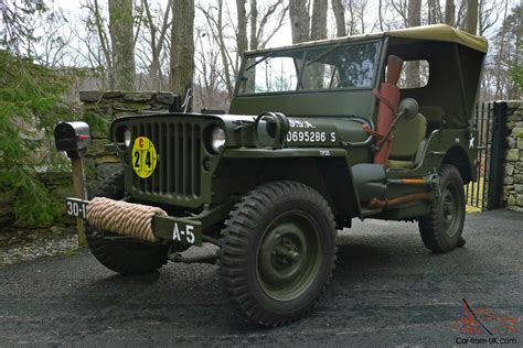 willys army jeep 1945 willys mb wwii military jeep fully restored no