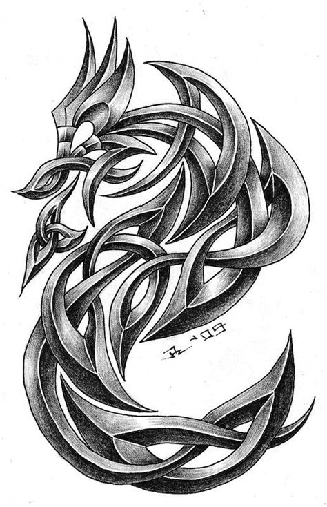 celtic dragon v1.4 by roblfc1892.deviantart.com Dragon knot reference | Cool Art | Dragon tattoo