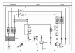 Wiringdiagrams  Toyota Land Cruise Charging System Wiring Diagram  Battery Alternator Starter Etc