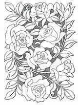 Coloring Hard Flowers Flower Rose Popular sketch template