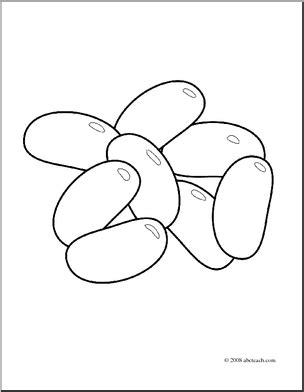 Jelly Bean Black And White Clipart - Clipart Suggest