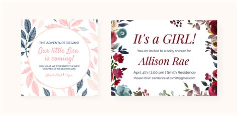 create  baby shower invitation card   easy steps
