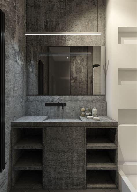 concrete bathroom   Interior Design Ideas.