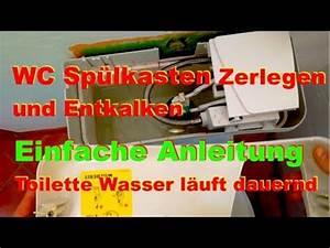 Spülkasten Entkalken Gebissreiniger : sp lkasten entkalken toilette wasser l uft dauernd deutsch youtube ~ Watch28wear.com Haus und Dekorationen