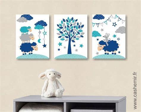 affiche pour chambre de b 233 b 233 et d enfant gar 231 on mouton souris bleu gris turquoise r 233 f 85