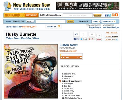 Husky Burnette Featured On New Releases Now