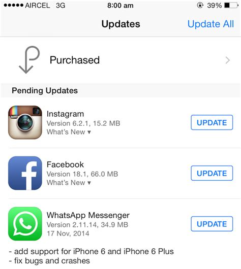 whatsapp update for iphone 6 and iphone 6 plus arrived