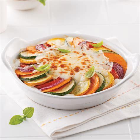 cuisine des legumes gratin de légumes à la crème de tofu et fromage de chèvre