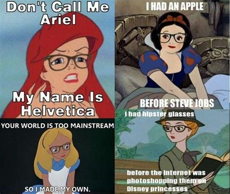 Hipster Disney Meme - hipster princesses hipster things pinterest disney princesses and hipster