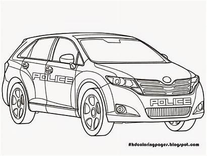 Mobil Gambar Mewarnai Police Coloring Polisi Animasi