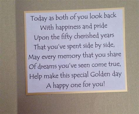 Inside Of Golden Wedding Anniversary Card The Sentiment