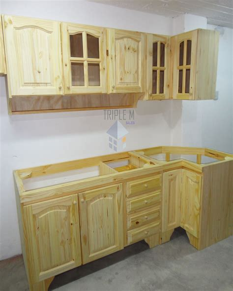 bajo mesada en  pino macizo oferta muebles de cocina