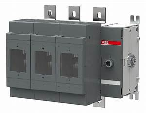 Abb  Os600j30  Fusible Disconnect  Panel Mount  3 Pole