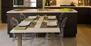 Meuble Cuisine Avec Table Escamotable : meuble cuisine avec table escamotable ilot central table escamotable cuisine pinterest meubles ~ Melissatoandfro.com Idées de Décoration