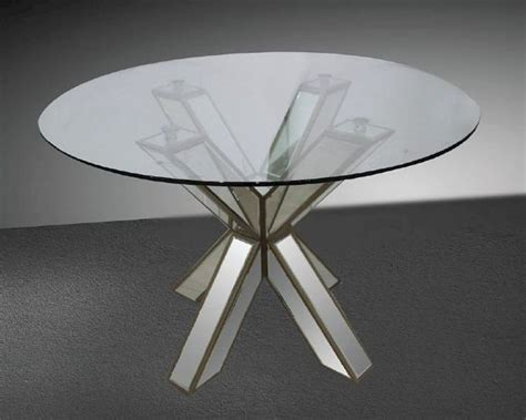 round mirrored dining room table transitional mirrored round glass dining table 44dgd1216