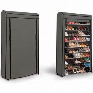 meuble a chaussures grande capacite achat vente meuble With meuble chaussure grande capacite 13 etagere chaussures 30 paires