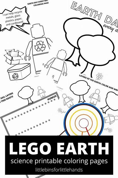 Coloring Earth Pages Science Lego Sheets Printable