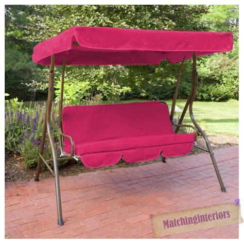 pink splashproof 2 seater garden hammock swing seat canopy