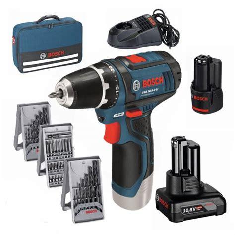 bosch akkuschrauber 12v bosch cordless drill gsr 12v 15 gsr 10 8 2 li in bag accessory 2 x battery ebay
