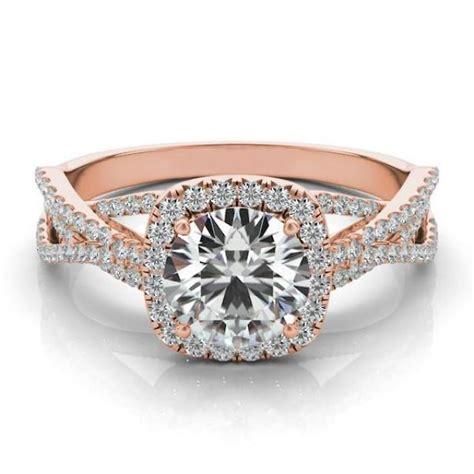 forever one moissanite diamond braided ring 14k rose gold moissanite rings uk usa canada