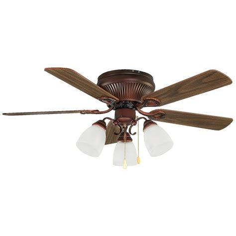 copper ceiling fan with light shop canarm malibu 42 in antique copper flush mount indoor