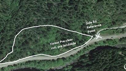 Landslide Oregon Highway Clear Google Satellite Earth