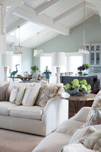 sherwin williams sea salt in a beach style living room
