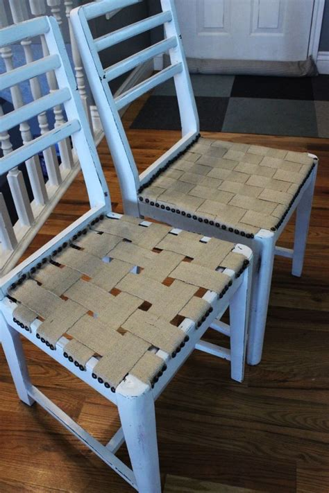 relooker chaise en paille diy jute chair seat give an chair purpose