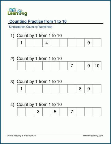 missing number worksheets for preschool and kindergarten
