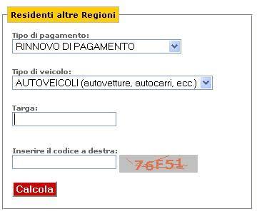 Ufficio Entrate Calcolo Bollo by Calcolo Bollo Auto