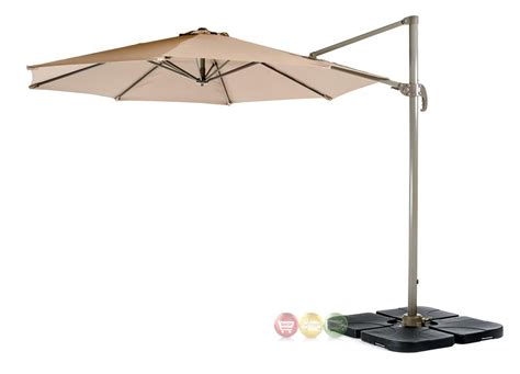 roma outdoor umbrella with adjustable height and offset
