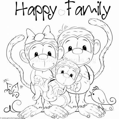 Monkey Coloring Pages Getcoloringpages Adult Opice