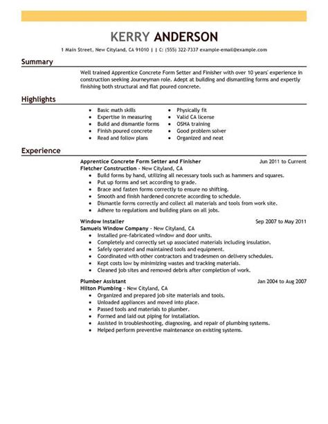20857 carpenter resume exle tradesman resume template 28 images 17 images about