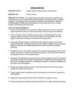 Graphic Designer Description Duties by Sle Description Template 32 Free Documents In Word Pdf
