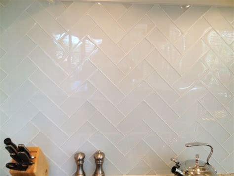 white ice glass tile backsplash pinterest