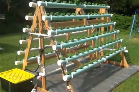 Vertical Vegetable Gardening Systems by How To Build A Diy Vertical Hydroponic Veggie Garden How