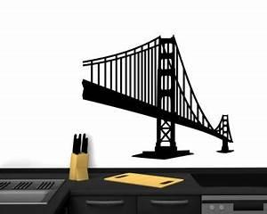 Wandtattoo San Francisco : golden gate bridge wandtattoo skyline wandaufkleber san francisco wandsticker ebay ~ Whattoseeinmadrid.com Haus und Dekorationen