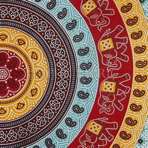 Red Border Jaipuri Rajasthani Bandhani Print Cotton Double ...
