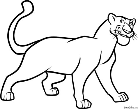 Kleurplaat Black Panther by Black Panther Coloring Pages Sketch Coloring Page