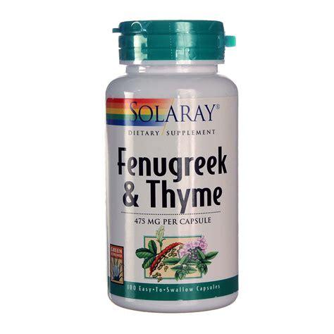 Buy Solaray Fenugreek Thyme 100 Caps Evitamins Australia