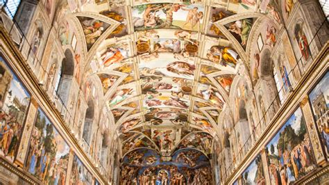 le plafond de la chapelle sixtine chapelle sixtine rome r 233 servez des tickets pour votre visite getyourguide fr