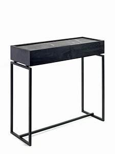 Console Avec Tiroir : console avec tiroirs et tablette en marbre vert ou noir ~ Teatrodelosmanantiales.com Idées de Décoration